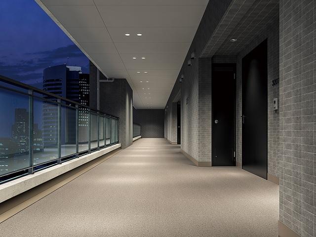 集合住宅廊下用防滑性床材